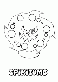 cartoon ghost pokemon coloring pages spiritomb
