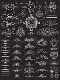 Vintage Wedding Album Vintage Set Decor Elements Decoration For Logo Wedding Album O