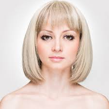 above shoulder length hairstyles with bangs above shoulder length graduated bob wispy bangs medium blond with