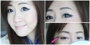 makeup mata sipit ala korea eyeliner tutorial style k pop the soft for beginners