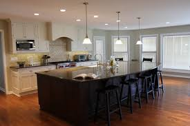 furniture 3 pendant lighting with two tone kitchen cabinets and