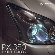 lexus rx 350 uk lexus rx 350 limited edition 2007 uk market sales brochure ebay