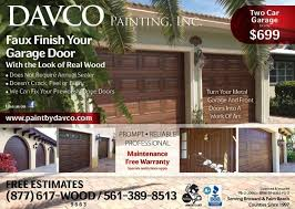 Faux Paint Garage Door - davco painting inc