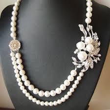 pearls necklace real images Made with original pearl small crystal necklace trendy jpg