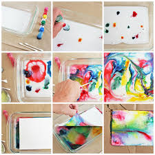 science u0026 art for kids marbled milk paper babble dabble do