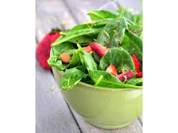 spinach strawberry almond salad with balsamic lime dressing food