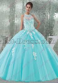 quince dress pretty blue tulle halter 2016 quinceanera dress 1st dress