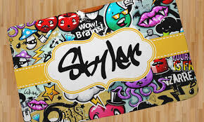Graffiti Area Rug Graffiti Area Rug Personalized Youcustomizeit