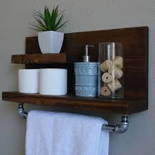 Bathroom Storage Chrome Floating Shelves Bathroom Diy Wooden Shelf Green Stained Wall