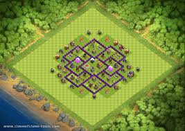 layout design th7 th7 hybrid farming trophy bases town hall 7 raccoonbot