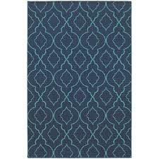 Home Decorators Outdoor Rugs Home Decorators Collection Phantom Navy 6 Ft 7 In X 9 Ft 6 In