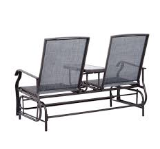 outsunny 2 seater rocker double rocking chair lounger outdoor