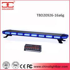 led emergency light bars cheap china 47 blue led emergency light bar tbd20626 16a6g china