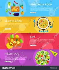 set vegetarian food diet fresh healthy stock vector 342001796