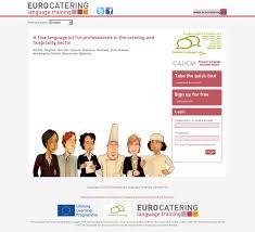 cour de cuisine gratuit eurocatering un cours de langue gratuit pour les professionnels de