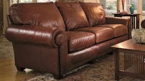 stickley santa fe serrano leather sofa by