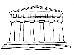 greek temples clipart 23