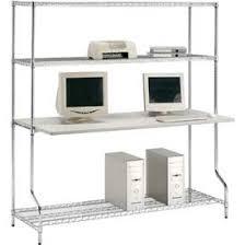 Wire Computer Desk Computer Furniture Lan Stations Nexel U0026 153 4 Shelf Wire