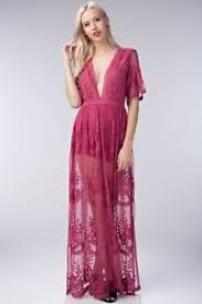 trend alert boutique honey punch raspberry pink lace maxi dress