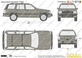 1995 jeep grand cherokee the blueprints com vector drawing jeep grand cherokee