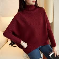 high sweaters 2017 winter turtleneck sweater high collar bat