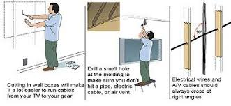 step by step how to run wire through a wall sound u0026 vision