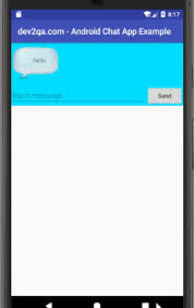 chat android android chat app exle using recyclerview