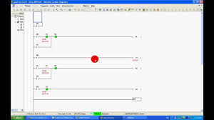 On Off Timer Circuit Diagram Push To On Off Plc Ladder Program Using No Nc Youtube