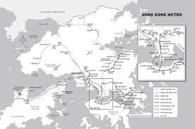 Hong Kong Subway Map by Chris Henrick Cartography