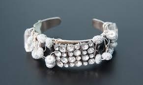 tiffany bracelet images Tiffany bracelet with rhinestone obsidian stones nicole png