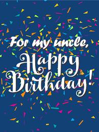 happy birthday uncle card birthday u0026 greeting cards by davia