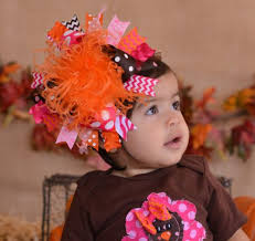 thanksgiving hair bows infant baby girl boutique thanksgiving fall clothing hair bows