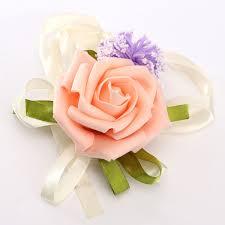 wrist corsages brides bridesmaid wedding handmade bouquet flowers wrist