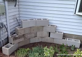 building a concrete block planter