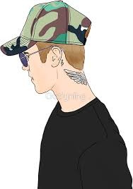 justin profile drawing by outlyning designs justin bieber 3
