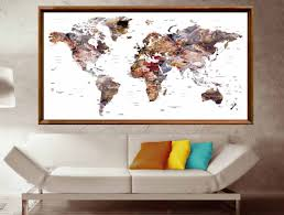 Large World Map Poster World Map Poster World Map Wall Poster World Map Canvas Print