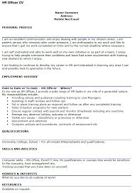 hr officer cv example u2013 cover letters and cv examples