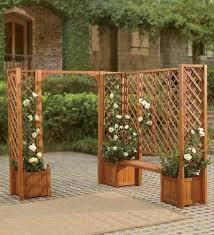 Eucalyptus Bench - forest stewardship council certified solid eucalyptus trellis for
