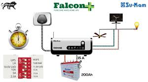 how to change the settings in home inverter ups su kam falcon