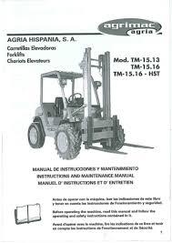 manual agria mod tm 15 16