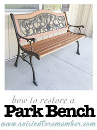 how to restore an old park bench hometalk