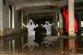 free halloween art free images water statue reflection halloween art temple