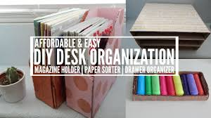 Desk Organizer Sorter by Diy Magazine Holder Paper Sorter U0026 Drawer Organizer Youtube