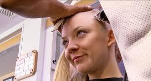 watch natalie dormer u0027s head get shaved for u0027mockingjay u0027
