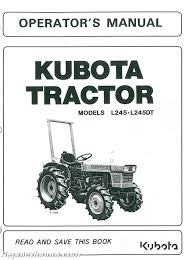 kubota tractor manuals repair manuals online