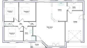 plan de maison plain pied 3 chambres plan maison plain pied 80m2 3 chambres sans garage 4 6 co