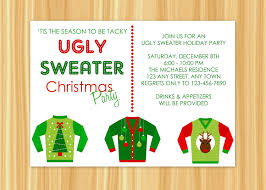 ugly sweater christmas party invitations cimvitation