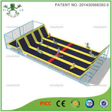 china long jump large trampoline bed with slope china large