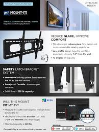 mounting a tv on the wall amazon com mount it mi 318l low profile tilting tv wall mount