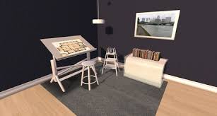 Drafting Table Set Second Life Marketplace Lok U0027s Drafting Table Set V2 Color Change